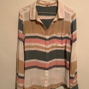 Soft Striped Roxy Long Sleeved Blouse